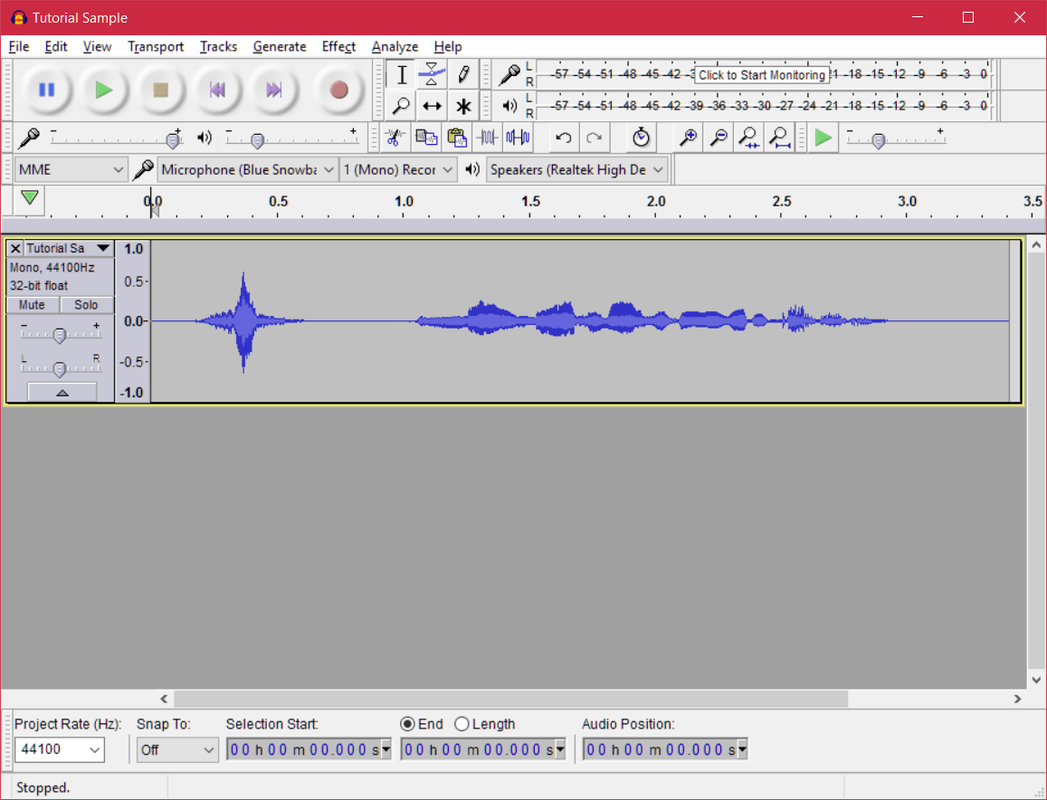 Recording With Audacity - Varied Voices Team